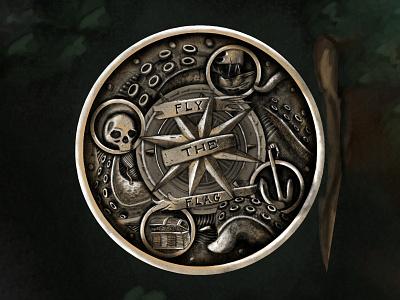PetesPirateLife Coin   Digital artwork illustration graphic design design