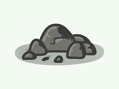 Rocky icon vector illustration graphic design design