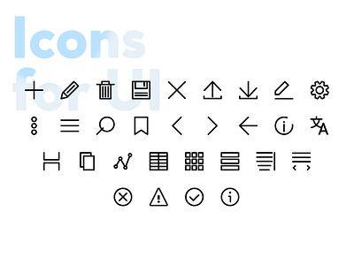 Basic UI Icon Set icon vector illustration graphic design design