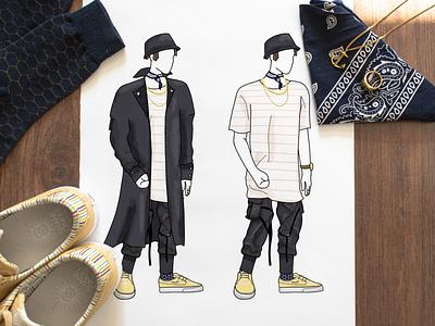 Outfit Design clothing design artwork illustration graphic design design