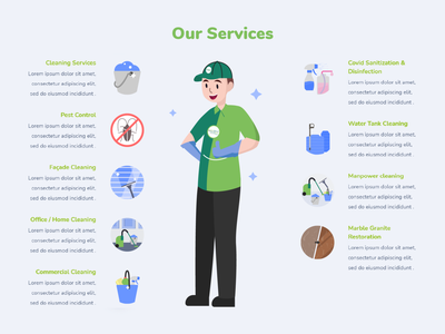 CleanPro   Our Services Illustrations icon vector illustration graphic design design