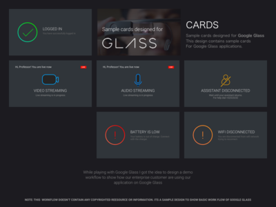 Cards for Google Glass