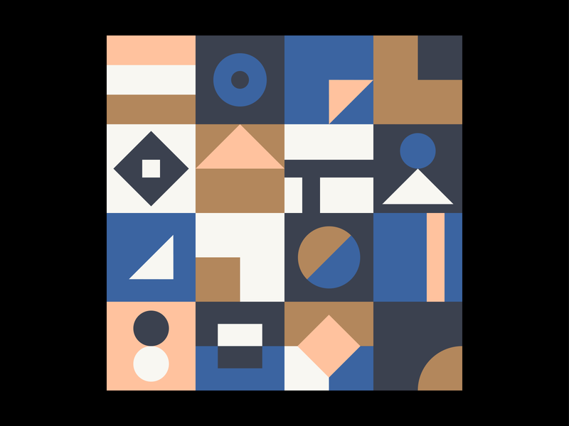 Patterns, Colours & Shapes #3 ui sketch shapes pleasant patterns minimal lines illustrator geometry colours angles design