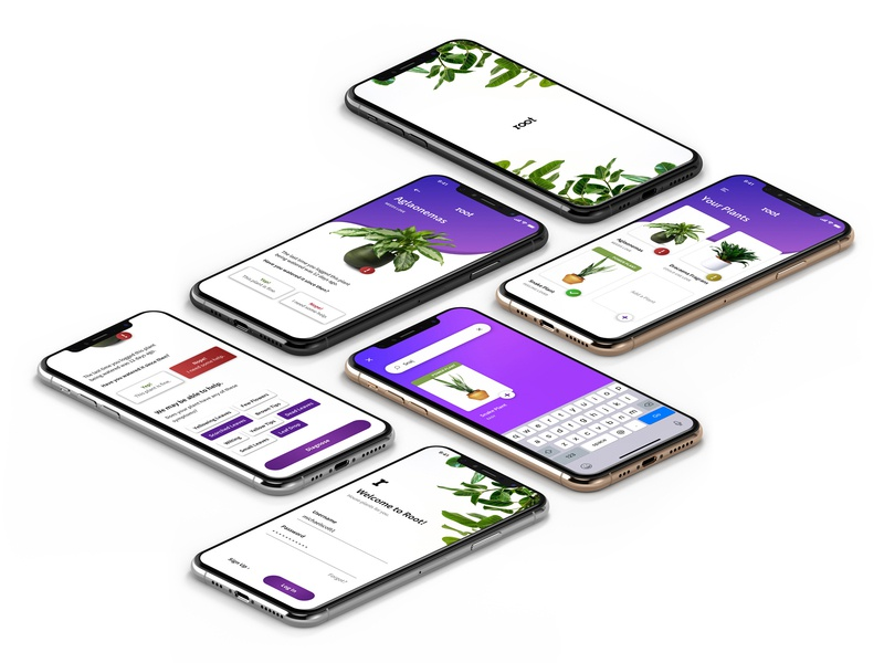 root Mobile App (iPhoneX) userinterface iphone ui branding mobile typography interface