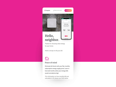 Onboarding Landing Page - Mobile