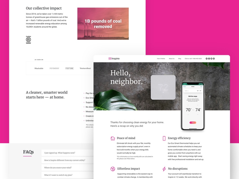 Onboarding Landing Page - Desktop landingpage desktopsite mobileapp ux  ui ui web design responsive branding smarthome desktop responsive website