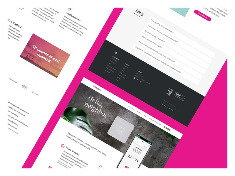 Onboarding Landing Pages branding typography responsive desktop website landingpage