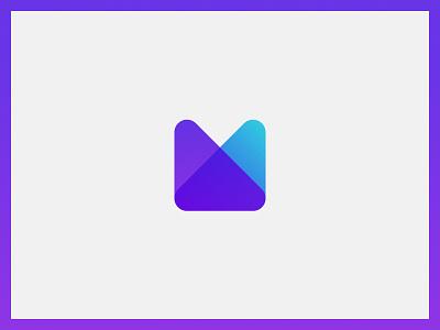 Letter Logo - M design flat icon vector illustration branding concept branding brand ui logo