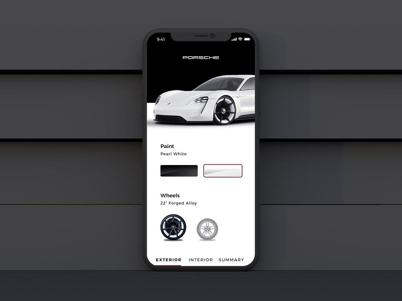 Car Configurator interface branding mobile first automotive design mobileproduct mobileui customize mobileapp automotive configurator