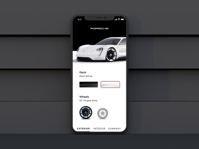Car Configurator interface branding mobile first automotive design mobileproduct mobileui customize mobileapp automotive configurator