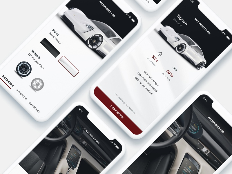 Mobile Vehicle Configurator interaction mobile ui ux ui mobile app design branding iphonex car configurator mobile app