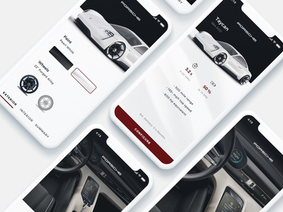 Mobile Vehicle Configurator interaction mobile ui ux ui mobile app design branding iphonex car configurator mobile app
