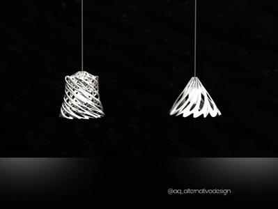 Twist bone lamps
