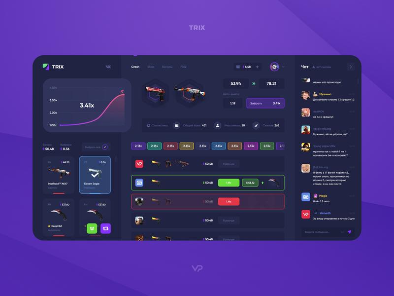 CSGO gambling dashboard crash gambling web ux user interface user interface design user ui page interface game design dashboard csgo application app