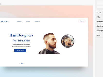Utilizing Sketch to Create Haircut Website Prototype
