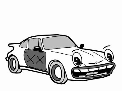 Porsche 1930s Cartoon Car cartoon 1930s 1930 porsche