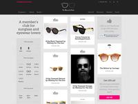Sneak peek of Monocle Order's new Shopify site