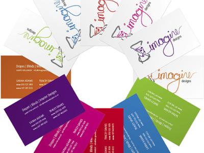 Imagine Designs business cards portfolio portfolio rendering faux 3d