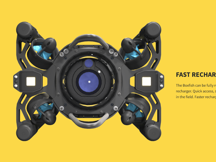 Boxfish ROV product page technology bright color product page ui design
