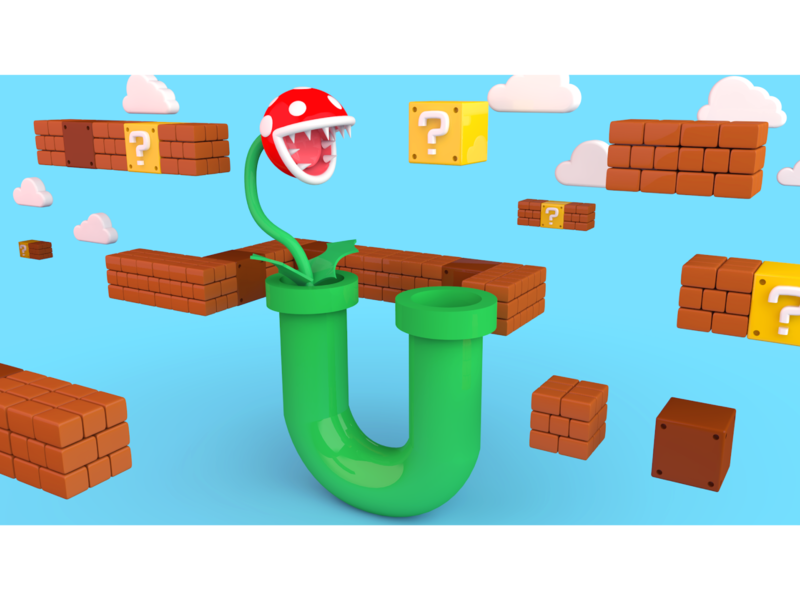 Letter U - Tube from Mario