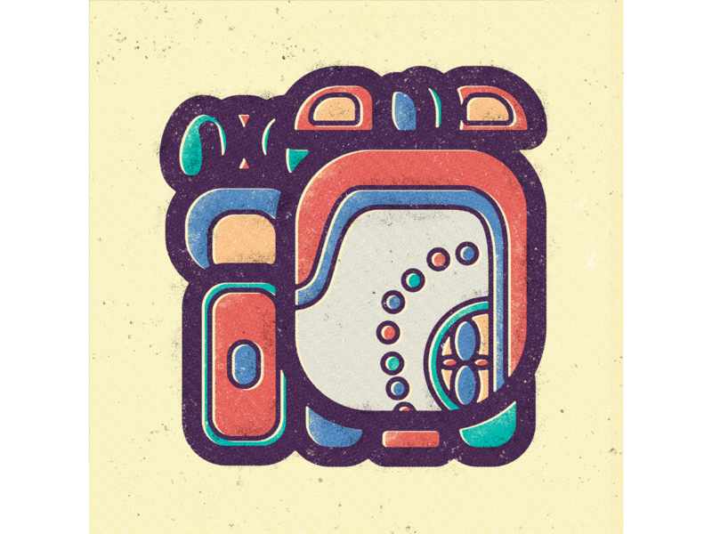Mayan Calendar - Month 11 - Zac vector illustration ray of the sun prehispanic modern art minimal design mayan writing mayan script mayan month mayan illustration mayan haab mayan glyph mayan design mayan calendar mayan art maya glyph geometric art escritura contemporary art ancient mexico abstract art