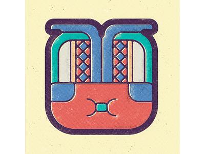 Mayan Calendar - Month 16 - Pax ancient maya indigenous mesoamerica prehispanic glyphs sensible music mayan sign design symbol icon sensible personality arts literature calendar design vintage illustration vector art vintage design archeology ancient culture geometric illustration