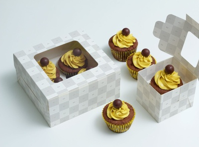 Cupcake Boxes & Packaging with Free Design Support