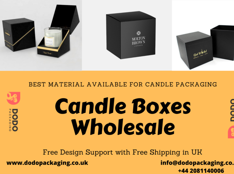 Find Candle Packaging Boxes with Free Design Support