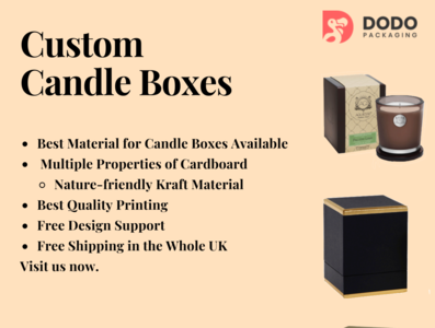2 Piece Candle Packaging Boxes - Custom Candle Boxes