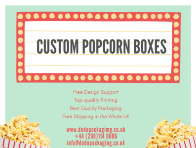Shop Custom Popcorn Boxes & Packaging in UK