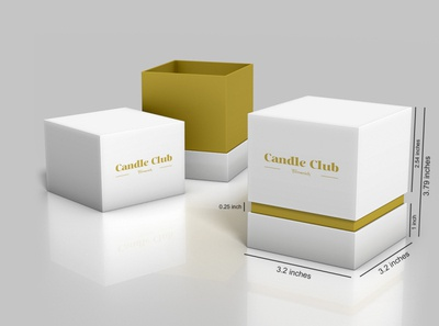 Custom Candle Boxes | 2 Piece Candle Packaging UK!
