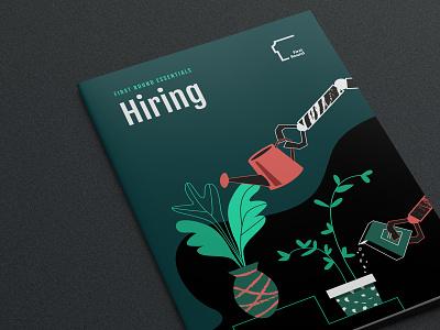 e-book Hiring cover design ebook cover ebook design robot ebook hiring green plant illustration plants design editorial abstract illustrations book typography vector character
