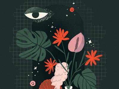 Still life eye drawing style procreate flowers illustration plants stilllife still-life abstract illustration design illustrations