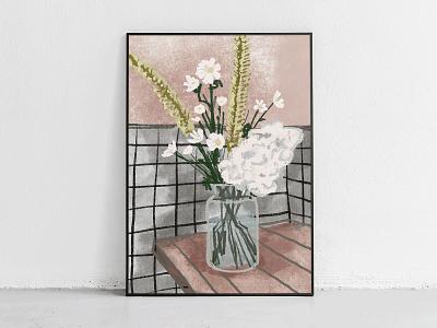 stillherestilllife procreate flower deco illustration drwaing paint abstract
