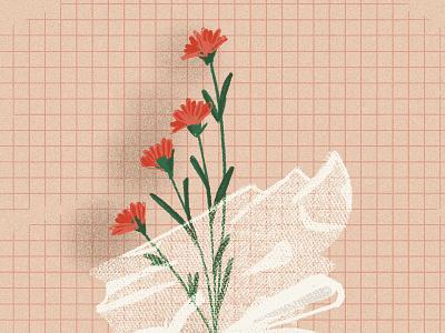 Week50 stillherestilllife process bodegon abstract thankyou flowers bag smiley still-life illustraion procreate stillherestilllife