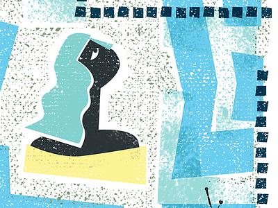 Perceptions n1 illustrations vector character serigrafia girl