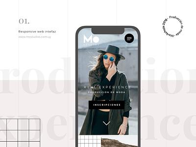 Mo Studios website desktop mobile design girl website fashion website landingpage fashion week fashion trend moda apparel ui design design app responsive design