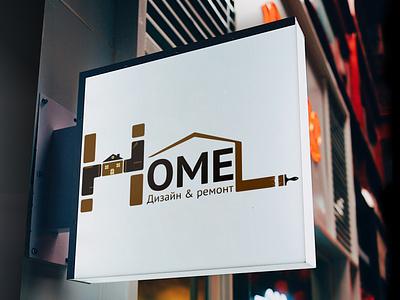 Logo home1 logo illustration typography vector branding design