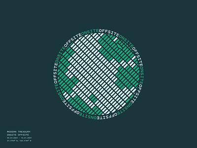 Onsite Offsite Shirt shirt swag globe branding illustration design