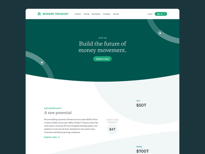 Careers Page v1 trech typography web fintech payments website design