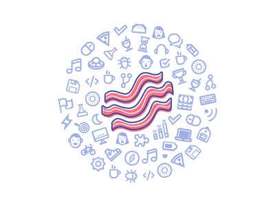 Bacon Bar lightstep day hack bacon illustration