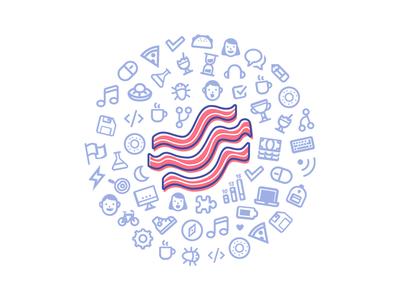 Bacon Bar lightstep day hack bacon illustration