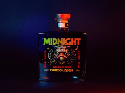 Midnight lifestyle packaging logo visual identity typography branding