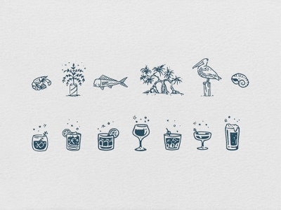Krill Bar & Restaurant icon vector design lifestyle surf skate restaurant bar visual identity illustration branding