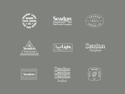 Seadon Trail Goods branding agency visual identity surf design skate lifestyle typography illustration branding logo design logo