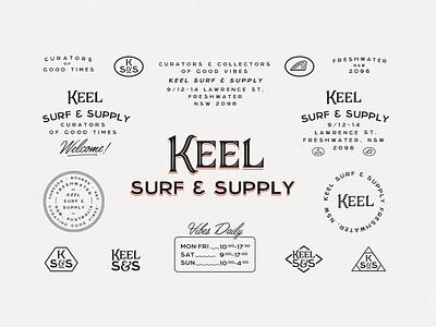 Keel Surf & Supply supply keel freshwater sydney manly skate surfshop surf branding visual identity