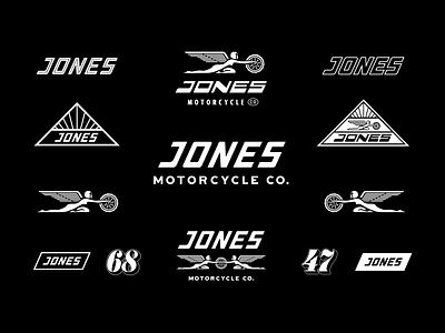 Jones Motocycle Co. Visual Elements sydney lifestyle motorsport jones motorbikes motorcycles illustration logo design surf skate branding