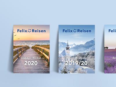 Felix-Reisen Print Catalog traveling travel catalog design catalog print corporate design branding design design branding