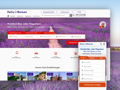 Fleix-Reisen UI corporate design design screendesign webdesign user interface ux ui branding design adobexd branding