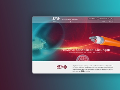 HEW Kabel Desktop UI transparent gradient animation homepage vector illustration webdesign screendesign user interface ux ui branding design adobexd